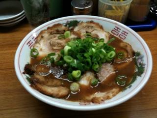 東大のチャーシュー麺