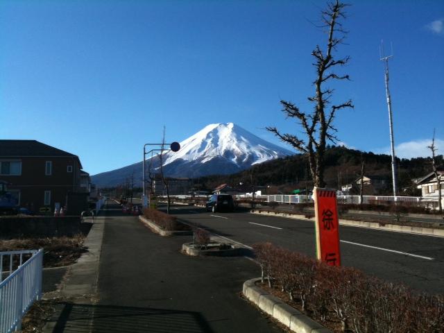 マラソン中の富士山