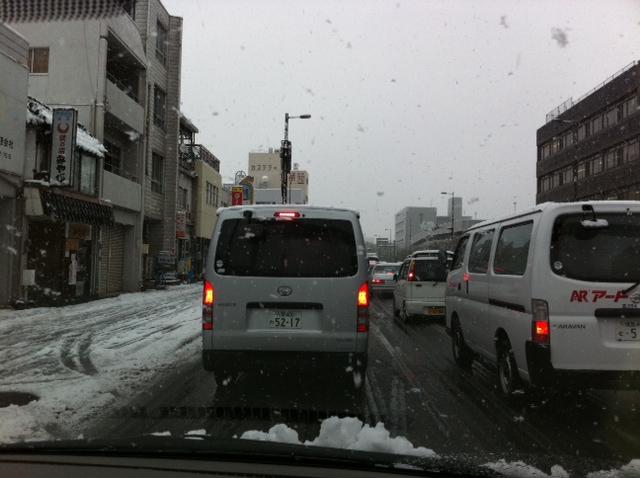 雪のため早退け中